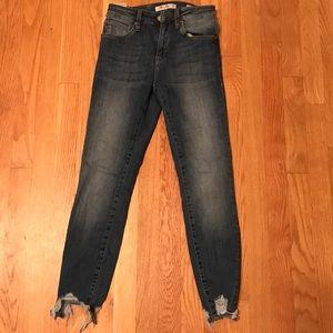 Mavi Jeans Co. Tess high-Rise Skinny Jeans.